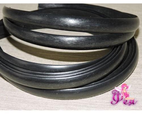 Ободок-основа пластик цв. черный  1,2 см