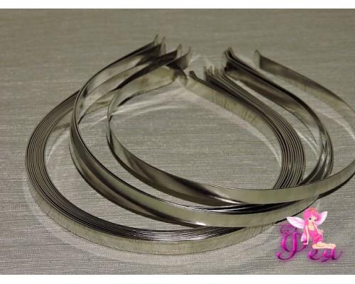 Ободок металл 7мм, цв. серебро - 1 шт.