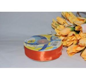 Атласная лента 25мм*33м, цв. оранжевый