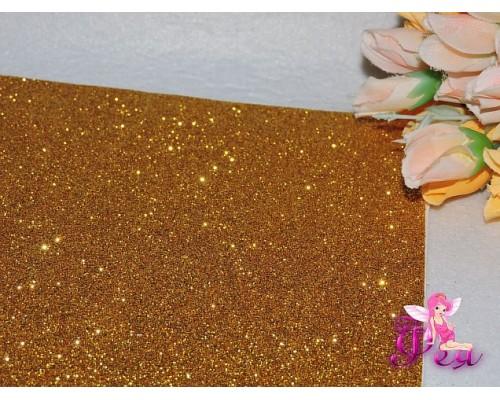 Фоамиран глиттерный 2 мм ( 20*30см) цв. золото-1лист