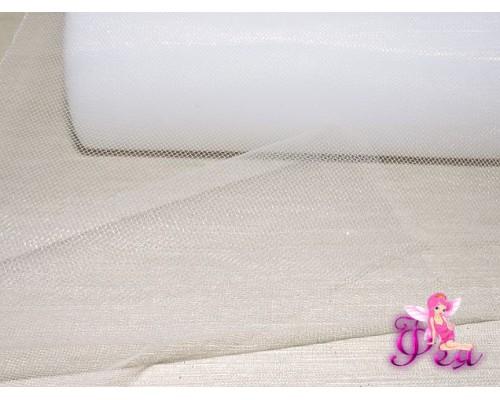 Фатин в шпульках 15 см, цв. белый - 1м