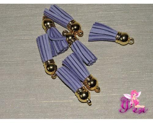 Декоративная кисточка замшевая 3,8 см, светло-фиолетовый -1 шт