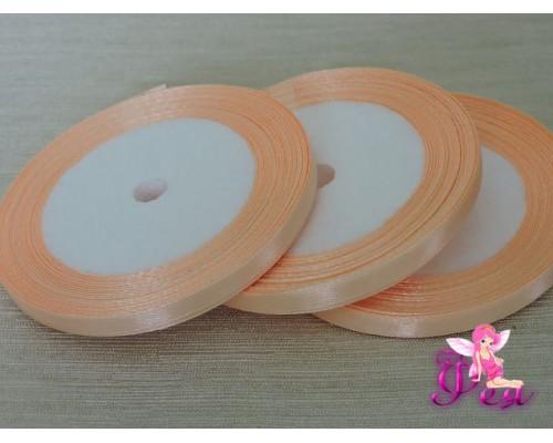 Атласная лента 6 мм, бледно-персикового цвета