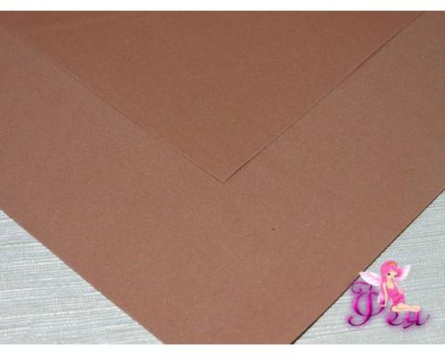 Фоамиран (Корея) 1 мм, цв. коричневый  (25*25)
