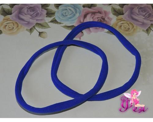 "Резинка-повязка ""One size"",  диаметр 10,5см, окружность 33 см. цв. синий -1 шт."