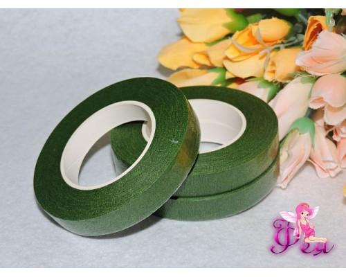 Тейп-лента 12мм (флористическая), цв. зеленый