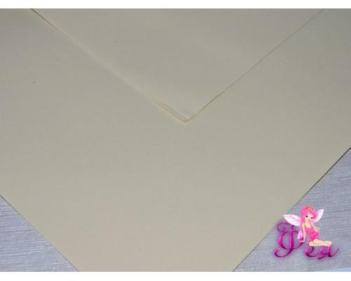 Фоамиран (Корея) 1 мм, цв.  нежно-желтый  (25*25)
