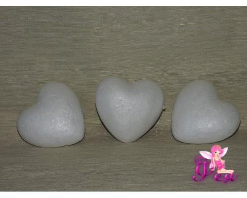 Сердце объемное пенопластовое 10 см
