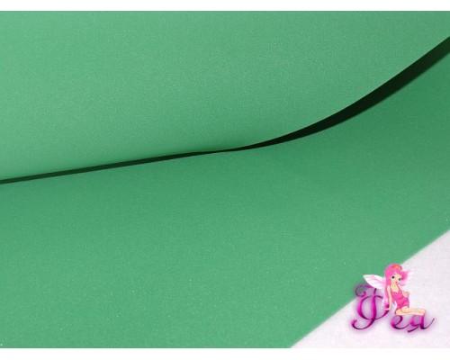 Шелковый фоамиран, толщина 1 мм, цв. зеленый