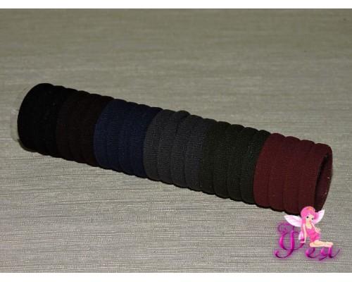 Бесшовные резинки для волос 3 см, в тубе 22 шт (микс 2)