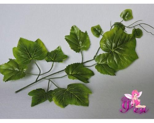 Веточка «Виноград» 30см, цв. зеленый