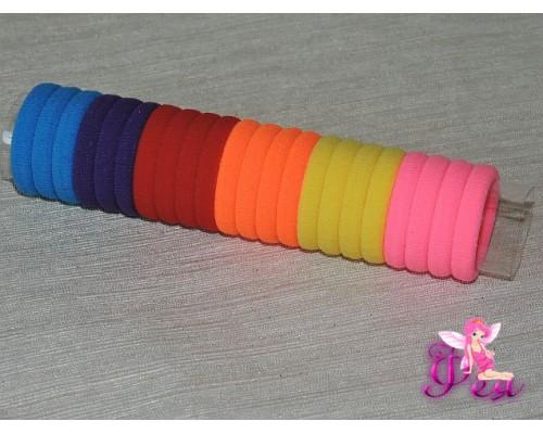 Бесшовные резинки для волос 3 см, в тубе 22 шт (микс 4)