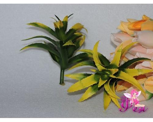 Ветка декоративная » Цветущий кактус» 15см, цв. желтый