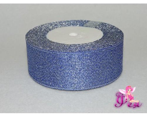 Лента парча 40 мм, синий