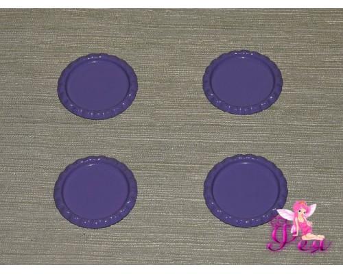 Крышечка для кабошона металл (25мм),цв. фиолетовый - 1 шт.