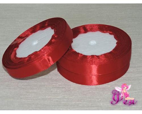 Атласная лента 12 мм, цв.бордовый