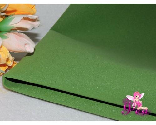 Фоамиран 1 мм, иранский ( 60 см*70 см; 30 см*70 см), цв. темно-зеленый