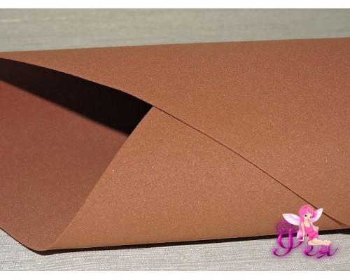 Фоамиран китайский 1 мм, коричневого цвета