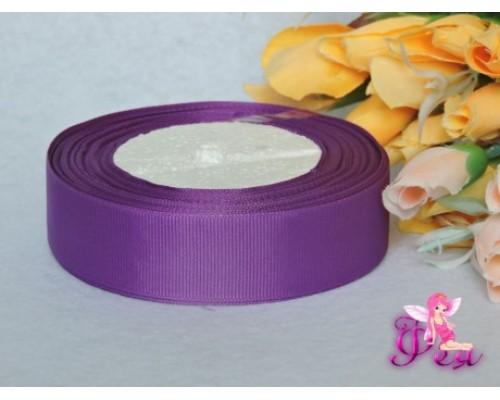 Однотонная репсовая лента 25 мм,  фиолетового цвета