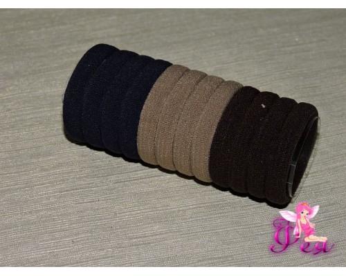Бесшовные резинки для волос 4 см, цв. микс ( 1 ), в тубе 12 шт