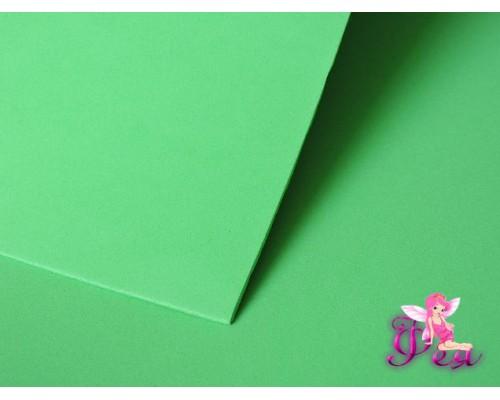 Фоамиран  толщина 2мм, цв.  светло-зеленый  № 24