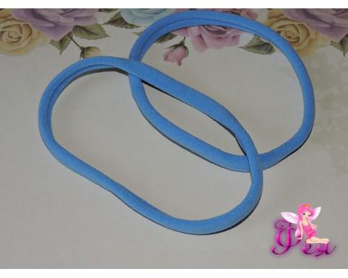 """Резинка-повязка """"One size"""", диаметр 10,5см, окружность 33 см. цв. голубой  -1 шт."""