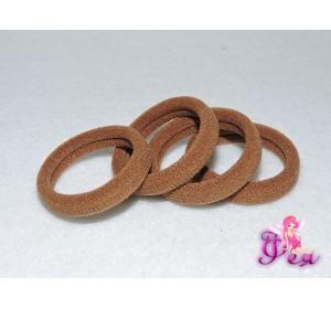 Резинки для волос 3 см, светло-коричневый
