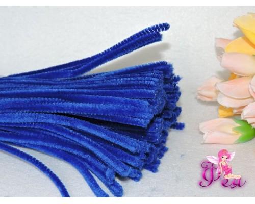 Проволока синельная, цв. синий 1 шт