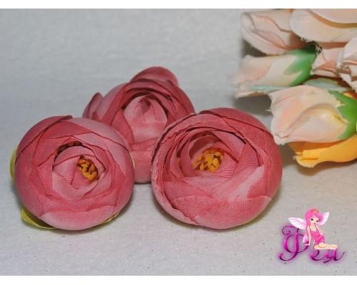 Камелия из ткани 5 см, цв. розовая пенка