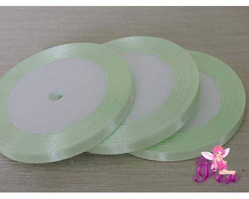 Атласная лента 6 мм, бледно-салатового цвета