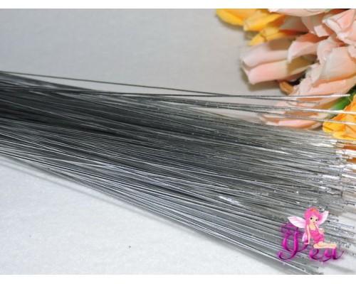 Проволока 1 мм*80 см, цв. серебристый 1 шт