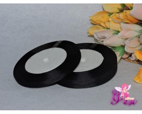 Репсовая однотонная 6 мм, цв. черный
