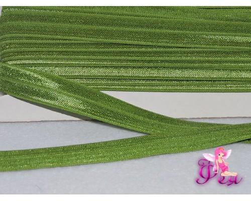 Тесьма эластичная 1.5 см, цв. фисташковый
