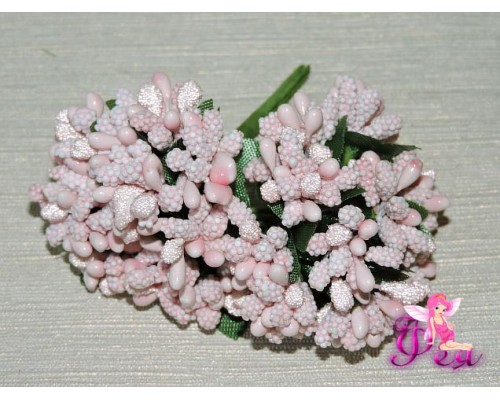 Букетик тычинок  из 12 шт, цв. светло-розовый