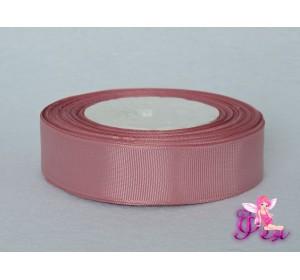 Однотонная репсовая лента 25 мм,  цв. пепельно-розовый -1 м