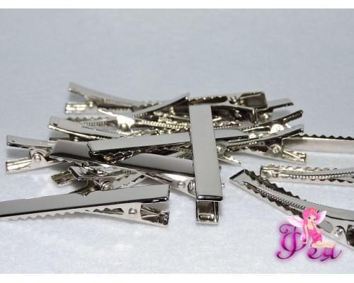 Зажим для волос металл 55 мм -1 шт.