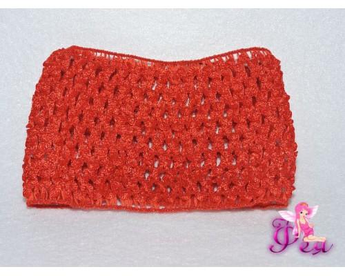 Повязка-основа (резинка) 7 см, цв. красный - 1 шт.