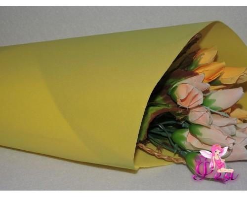 Фоамиран зефирный 1мм, цв. желтый