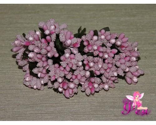 Букетик тычинок с сахарными вставками из 12 шт, цв. розовый