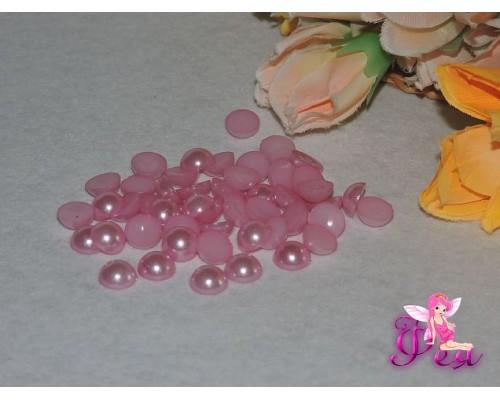 Полубусины под жемчуг (розовый) 10мм  (10 шт)