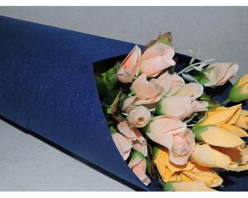 Фетр жесткий цв.насыщенный-синий 1мм (лист 41см * 49см)