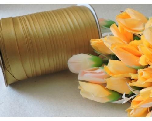 Косая бейка (атласная) 15мм, цв. золотой