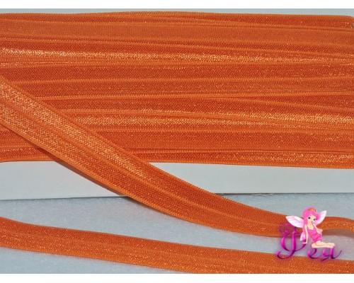 Тесьма эластичная 1.5 см, цв. оранжевый