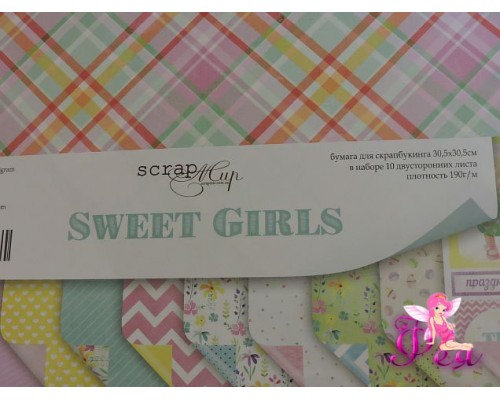 Набор бумаги Sweet Girls 30*30 см, 190 г/м
