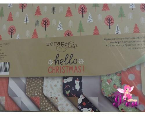 Набор бумаги Hello Christmas 30*30 см, 190 г/м