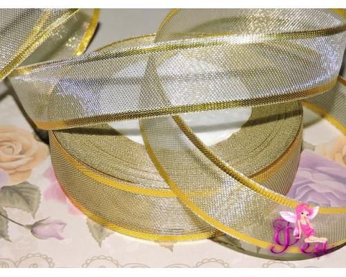 Декоративную ленту 25мм золотого цвета - 1м