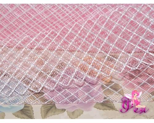 Регилин мягкий 45 мм, цв. розовый 2  с белой нитью ( 1 м)