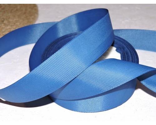 Репсовая лента 25 мм, цв. темно-синий- 1 м.