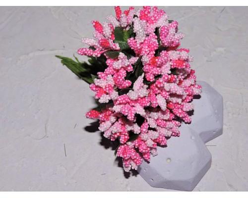 Букетик тычинок из 12 шт, цв. розово-ярко-розовый  - 1 букетик.