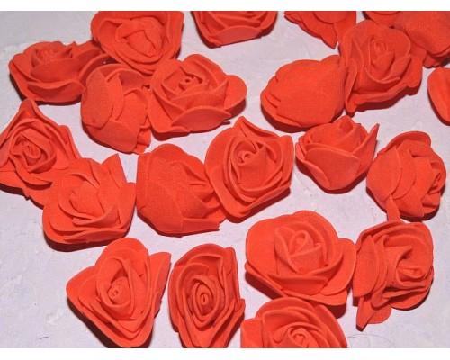 Роза 35 мм из фоамирана, цв. красный - 1 шт.
